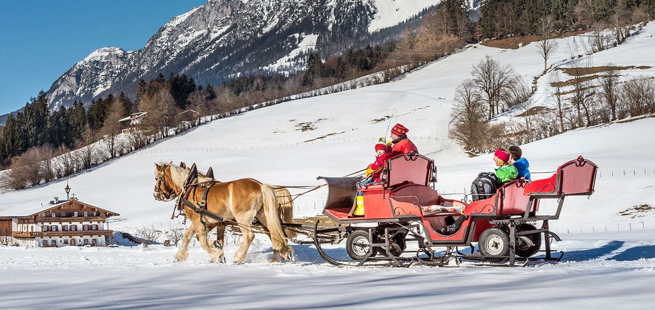 Pferdeschlittenfahrt in Ellmau