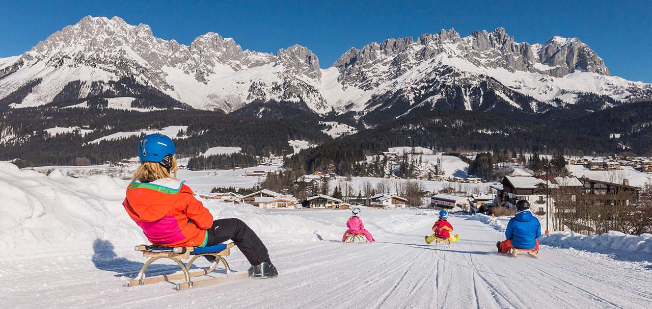 Rodeln in der Skiwelt