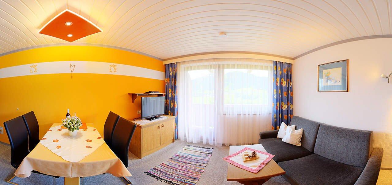 Sunblick Wohnraum und Küche